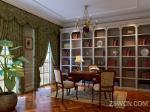欧式书房室内效果图