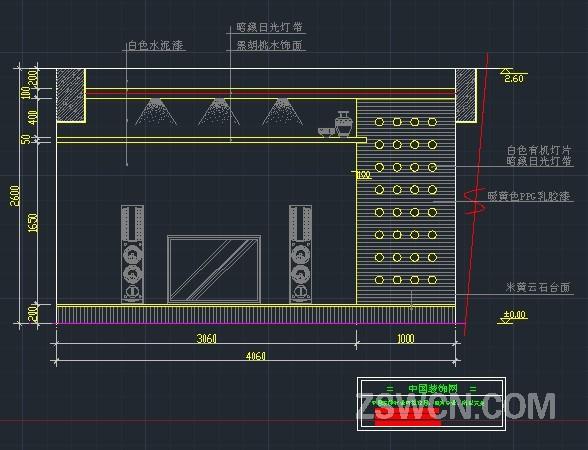 电视柜背景立面CAD图块 电视背景墙CAD立面图
