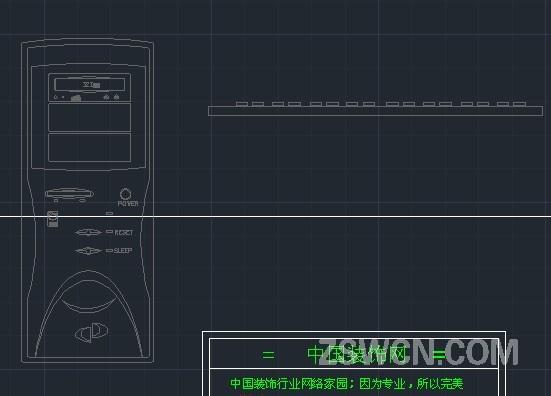 > 立面电器cad素材 电脑主机 键盘cad立面图块dwg