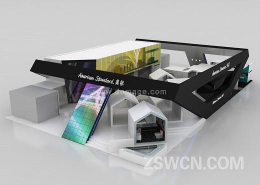 美标中国 卫浴厨具展 大型展台设计