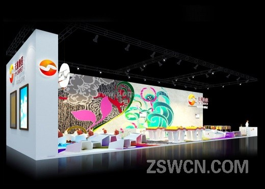 吉林天雅地毯有限公司 地板地毯材料展 大型展台案例