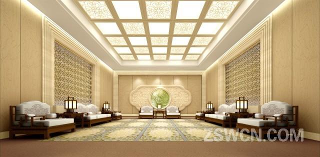 辽宁桃仙国际机场 贵宾区接待厅设计方案 效果图