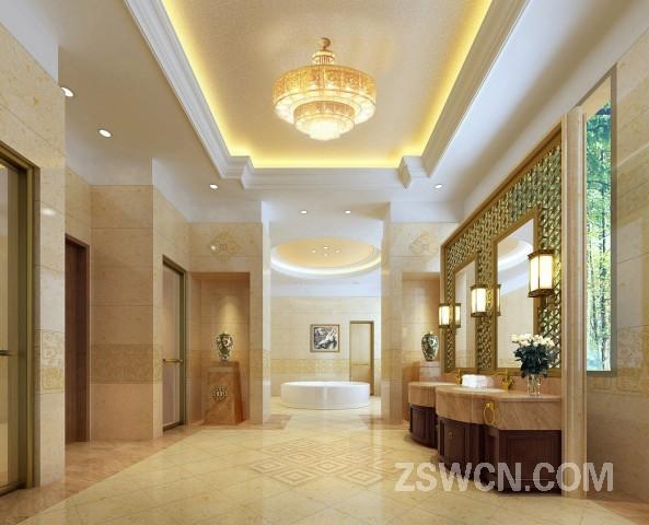 丛台迎宾馆 高级套房 中式卫生间装修效果图
