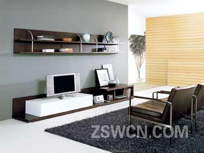 既省钱又美观的客厅龙8娱乐(图) 24款工薪族适用的电视背景墙