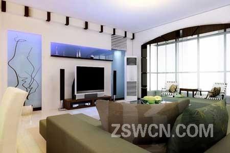 既省钱又美观的客厅乐虎国际(图) 24款工薪族适用的电视背景墙