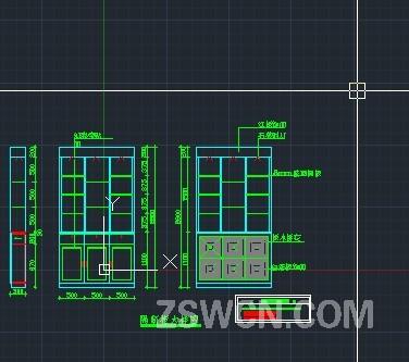 隔断柜大样图 cad施工图含材料标注 正立面 背立面 侧面图纸 玄关隔关