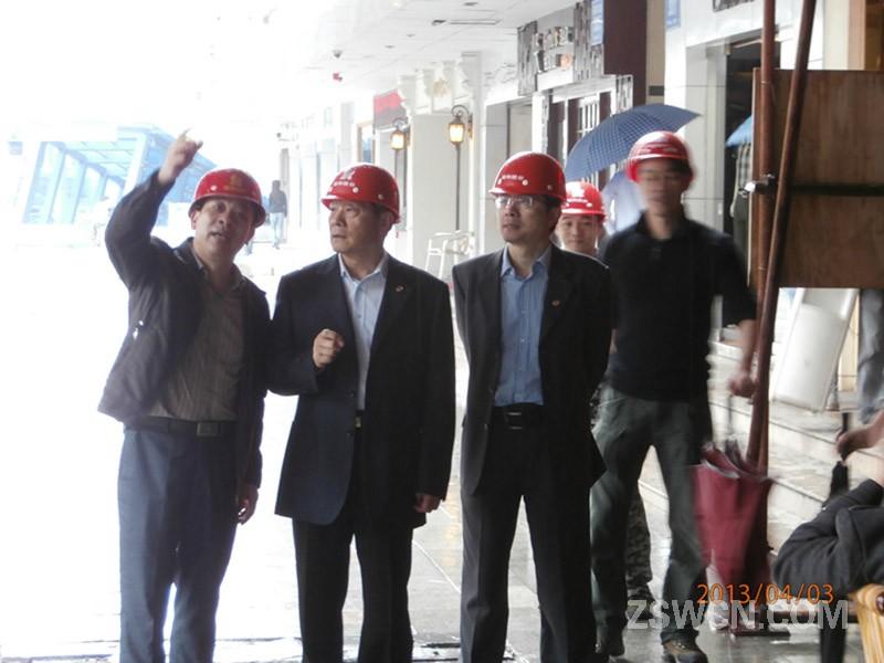 徐辉义总经理深入基层,广泛调研 ---莅临我司新办公楼工程考察指导