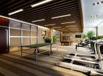休闲健身房装修设计 乒乓球室 桌球室方案装修效果图 魅力东方设计作品