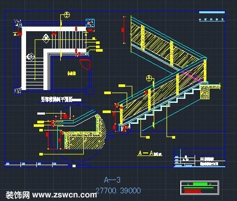 扶手立面图,大理石楼梯步级节点详图一套cad格式源