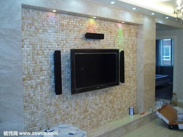 马赛克电视背景墙图片
