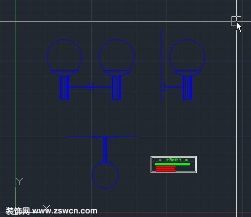 走廊壁灯cad图块 含壁灯平面图 立面图 侧面图cad素材 cad壁灯怎么表示