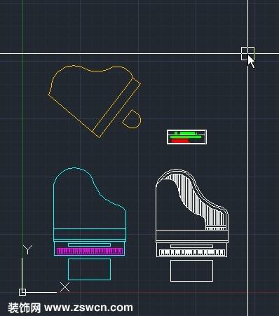家用钢琴cad平面图 三角钢琴平面图cad图块素材 钢琴dwg源文件下载