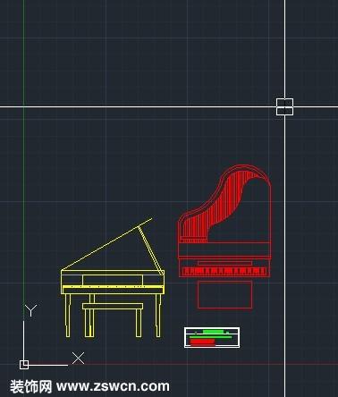 cad钢琴立面图块 cad钢琴立面 钢琴立面