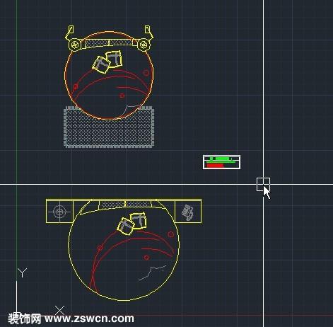 cad家具模型系列下载 圆型床CAD模型图块 圆床cad素材源文件