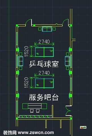 乒乓球桌子国际标准尺寸规格包含乒乓球室平面图cad