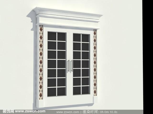 简约的欧式风格窗户3D模型下载 窗max模型源文件下载