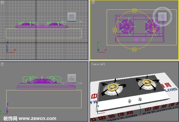 最新款3D燃气灶模型下载 燃气灶3d模型 煤气灶模型max格式源文件下载