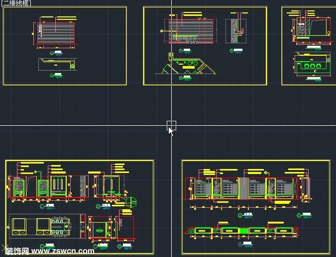 迅雷h网_一套完整陶瓷专卖店展厅室内装修设计施工图cad图纸 含平面图 ...