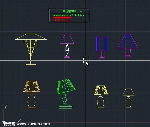 常用室内设计灯具cad图块
