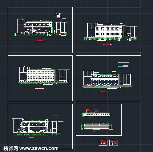 银行营业厅室内装修设计cad施工图 工装设计cad图纸下载