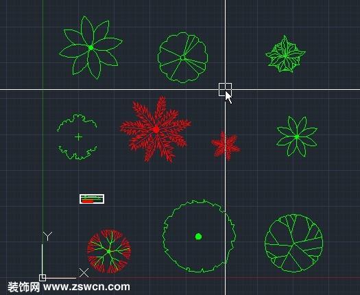 cad室内花草素材平面 室内设计素材cad植物绿化图