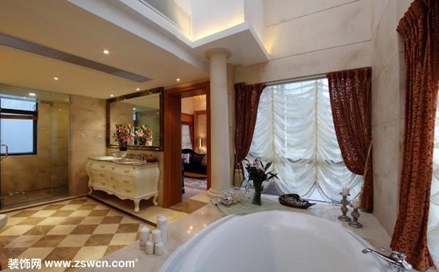 欧式 古典 装修效果图 别墅 洗手间