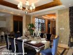 佛山濱海卸庭别墅 2013年 欧式餐厅装修效果图  欧式吊顶装修效果图