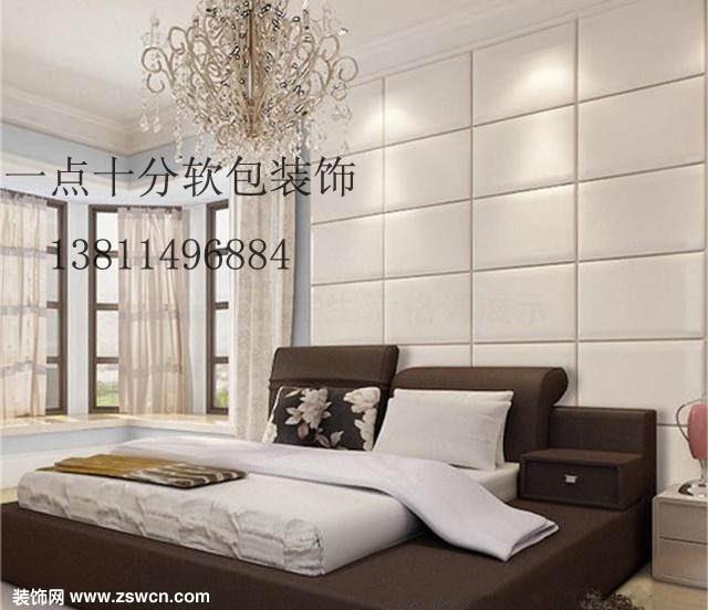 美丽时尚软包背景墙装饰 欧式风格主人房效果图图片