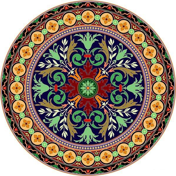 圆形地毯图案 3d地毯素材 免费下载 - 圆形地毯贴图