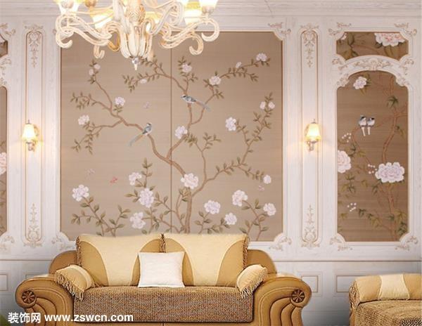硬包, 软包背景 墙   别墅欧式卧室装修软包背景墙效果图
