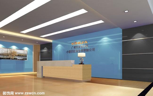 办公室接待厅装修设计效果图