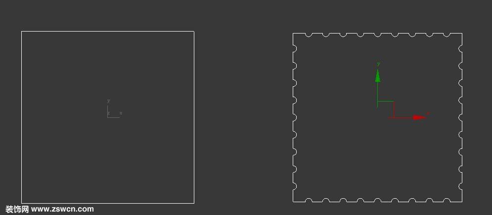 室内效果图中 方形柱,圆形柱拉槽是怎么在3DMAX建模的 本文建模小