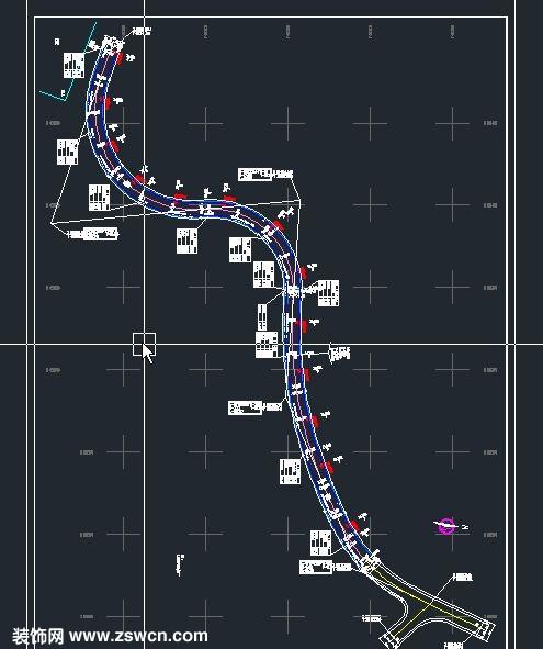> 某高尔夫球会道路照明设计cad图纸 含设计说明 图例 材料表 配电电