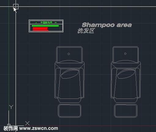 发廊美发洗发床CAD图块 理发店洗头床CAD模型下载