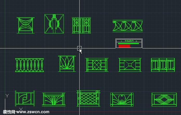 扶手拦杆铁艺cad立面图扶手库标准cad素材库cad室内v扶手模型图片