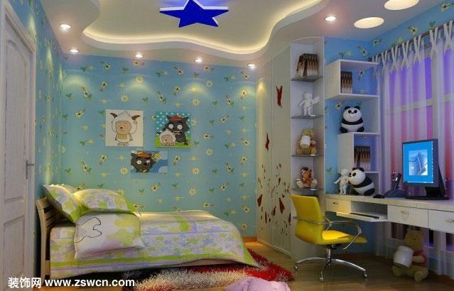 2010年最新儿童卧室装修效果图色彩参考