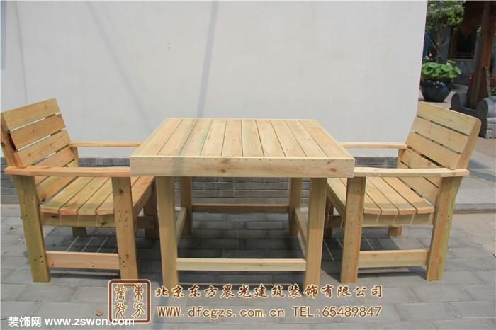 室外防腐木桌椅 - 中国装饰网