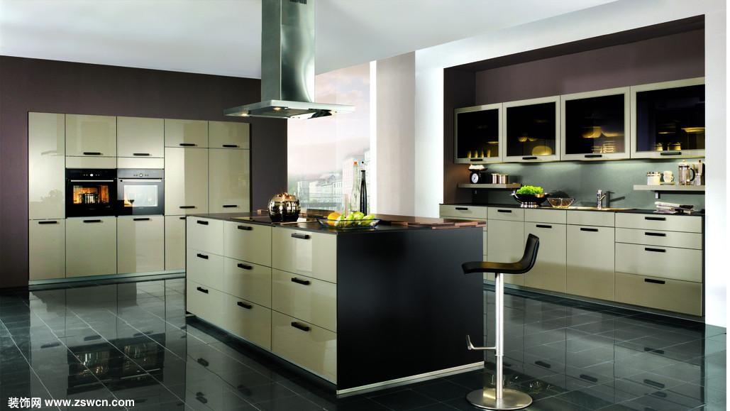 开放式厨房中西结合 开放式厨房效果图 - 厨房装修 图