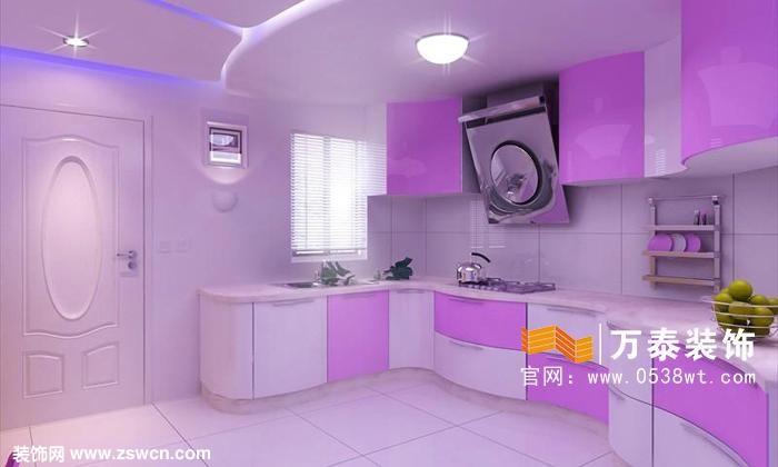 泰安印象泰山紫色婚房主题空间装修效果图