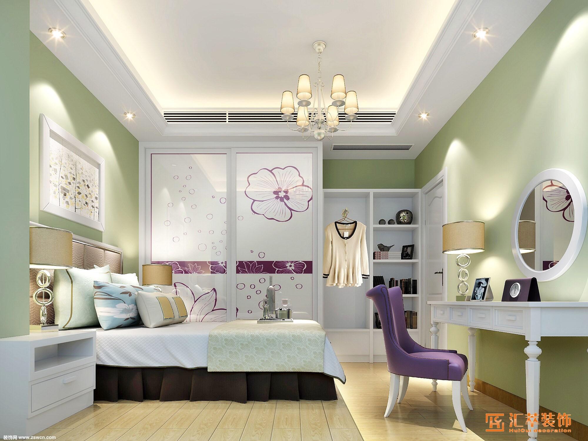 欧式风格金鹏花园张小姐雅居 - 卧室装修设计 卧室图