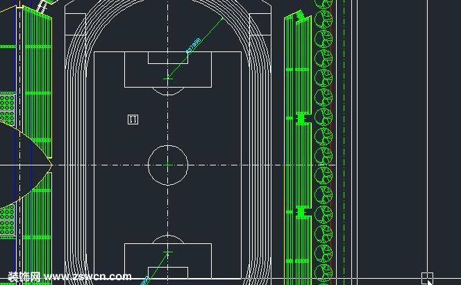 > 足球场地cad格式平面图 2004可以打开 源文件下载