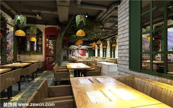 【品筑最新力作】万达商场Piace pizza 餐厅项目设计