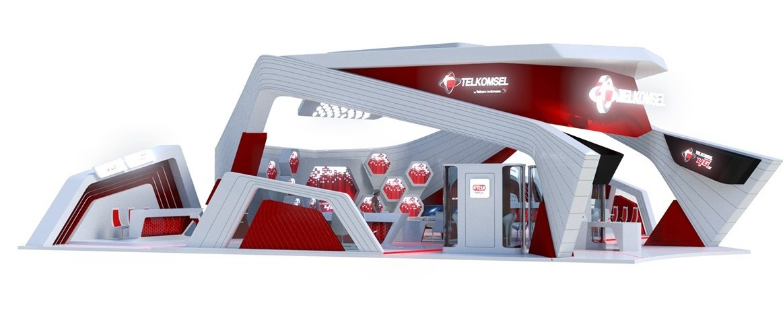 国外展台设计效果图—印尼设计