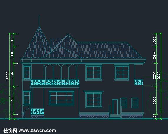 农村别墅设计图 独立别墅设计cad全套施工图 含效果图4
