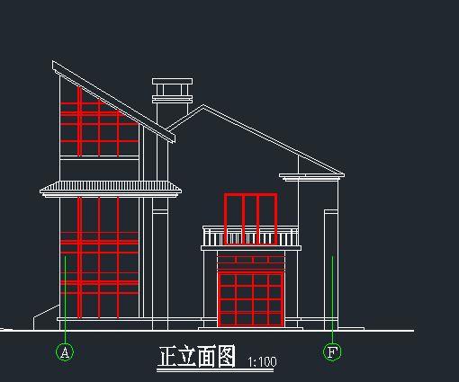 农村小别墅设计图 漂亮小别墅全套cad建筑设计图3