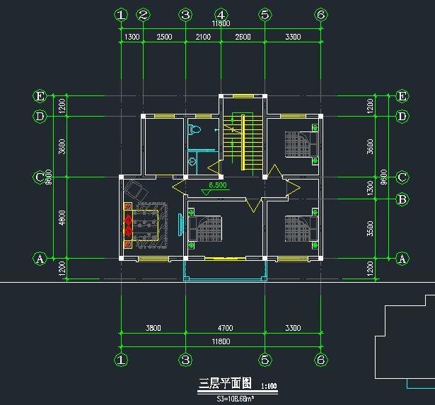 素材下载 cad素材下载 cad案例施工图 别墅全套图纸 > 农村自建房设计