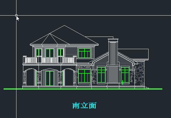 > 农村二层小别墅设计 自建房私家别墅设计 效果图cad施工图5
