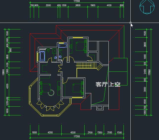 农村二层小别墅设计 自建房私家别墅设计 效果图cad施工图5