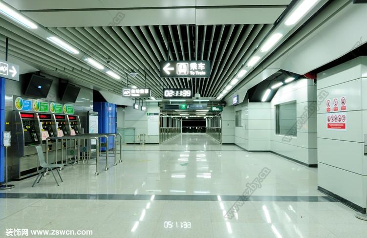 深圳地铁机场站 地铁装修设计效果图
