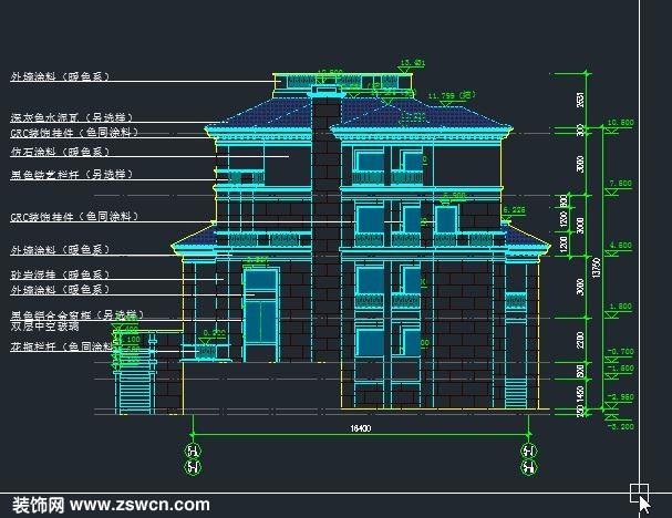 图纸包含: 图纸目录、地下层平面图、一层平面图、夹层平面图、二层平面图、三层平面图、屋顶平面图、轴立面图3、1-1剖面图、2-2剖面图、别墅外观效果图; 一层设计:厨房、餐厅、客厅、露台、卫生间等 二层设计:家庭厅、露台、卧室2、卫生间等 三层设计:家庭厅、露台、卧室2、卫生间等 18x17.